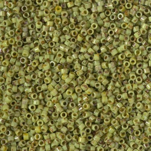 Miyuki Delica Beads 11/0 DB2265 Picasso Chartreuse Matte 7.2 grams