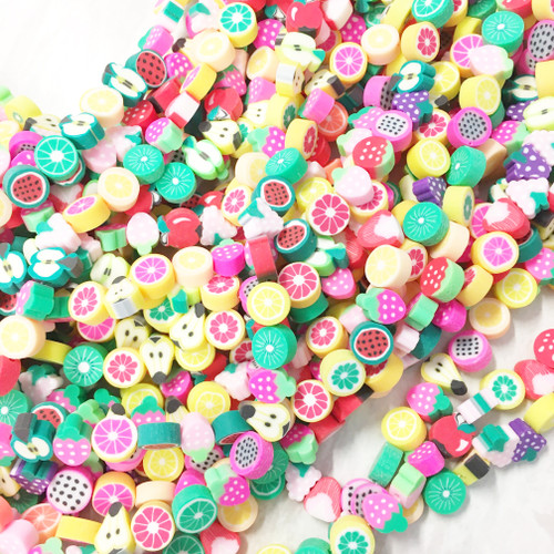 Polymer Clay Fruit Shaped Beads 6~10mm MIXED FRUITS
