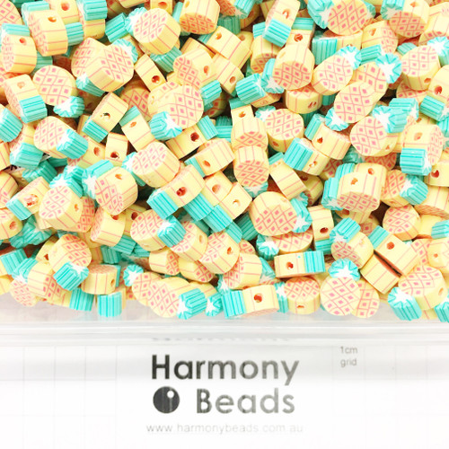 Polymer Clay Fruit Shaped Pineapple Beads 8~12mm YELLOW PINEAPPLES
