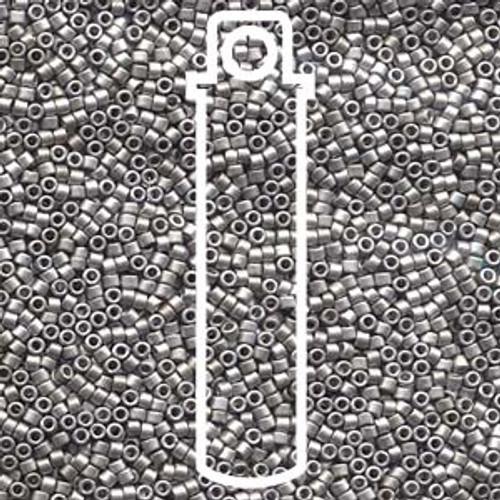 Miyuki Delica Beads 11/0 DB336 Matte Palladium Plated 7.2grams