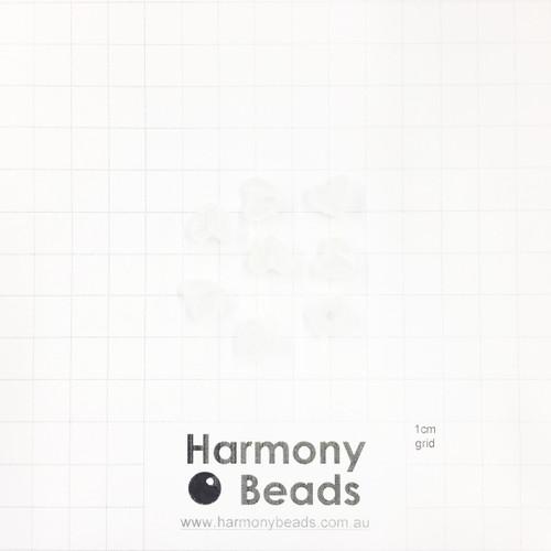 GLOW IN THE DARK Acrylic Plastic Puffy Heart Shaped Beads -10x9mm - GLOW WHITE