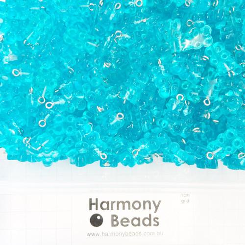 Resin Plastic GUMMY BEAR Charms - 12x22mm - GUMMY BUBBLEGUM BLUE CANDY