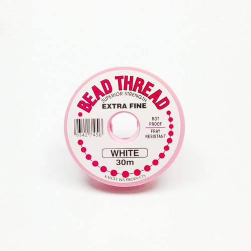 Bead Thread - WHITE, 30m