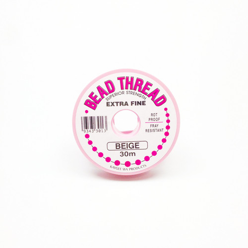 Bead Thread - BEIGE, 30m