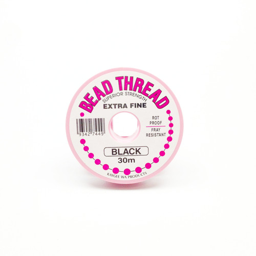 Bead Thread - BLACK, 30m