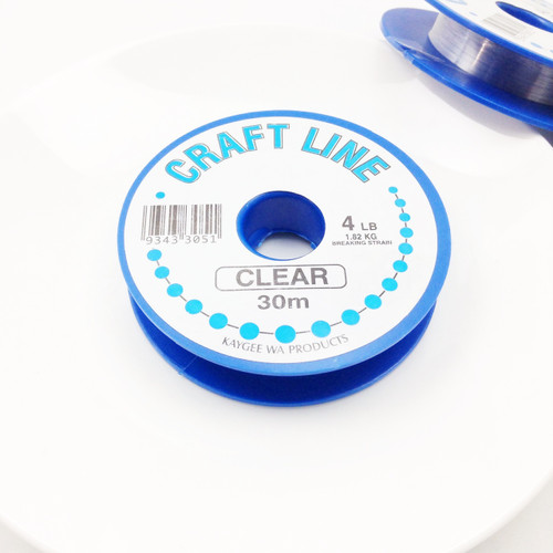 Bead Thread - Nylon Craft Line Clear 4 lb, 30m