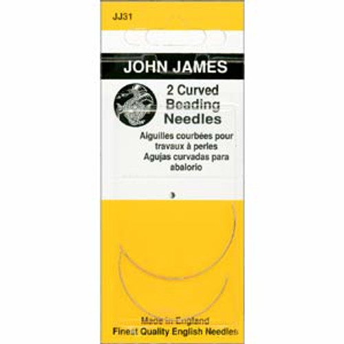 John James English Curved Beading Needles, Size 10 x [2 pcs]