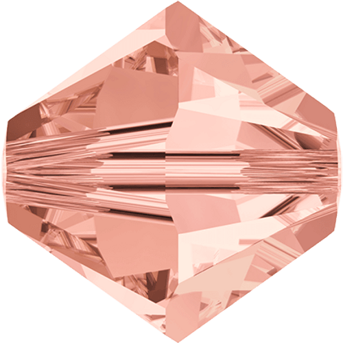 Swarovski 5328 Xilion Bicone Beads, Rose Peach [10pcs]