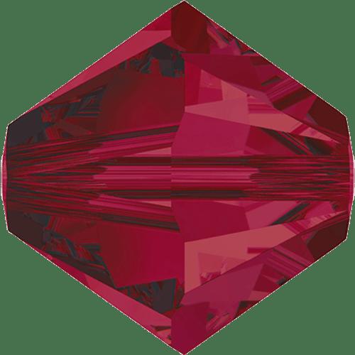 Swarovski 5328 Xilion Bicone Beads, Ruby [10pcs]