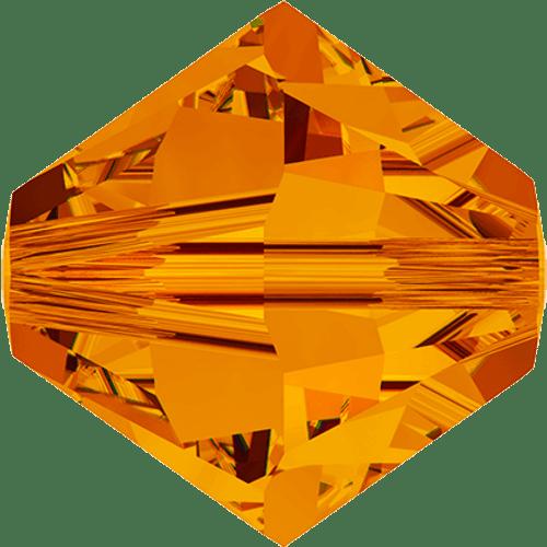 Swarovski 5328 Xilion Bicone Beads, Tangerine [10pcs]