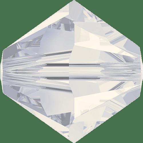 Swarovski 5328 Xilion Bicone Beads, White Opal [10pcs]