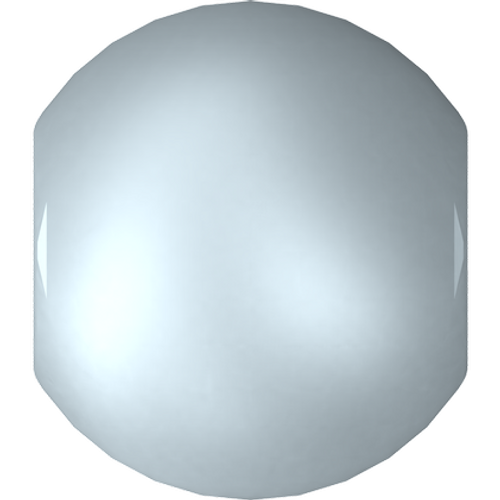 Swarovski 5810 Round Pearl Bead, Crystal Pastel Blue [10pcs]