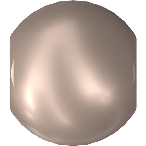 Swarovski 5810 Round Pearl Bead, Crystal Powder Almond [10pcs]