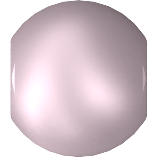 Swarovski 5810 Round Pearl Bead, Crystal Powder Rose [10pcs]