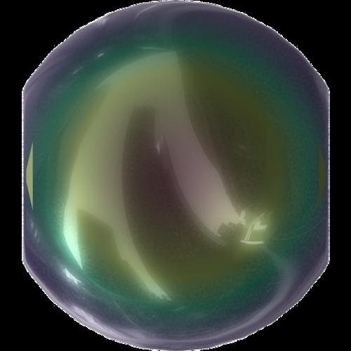 Swarovski 5810 Round Pearl Bead, Crystal Scarabaeus Green [10pcs]