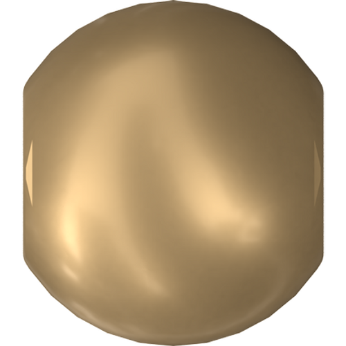 Swarovski 5810 Round Pearl Bead, Crystal Vintage Gold [10pcs]