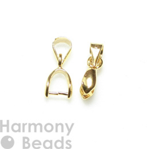 Pinch Pendant Bails 13mm Gold Colour [2 pcs]