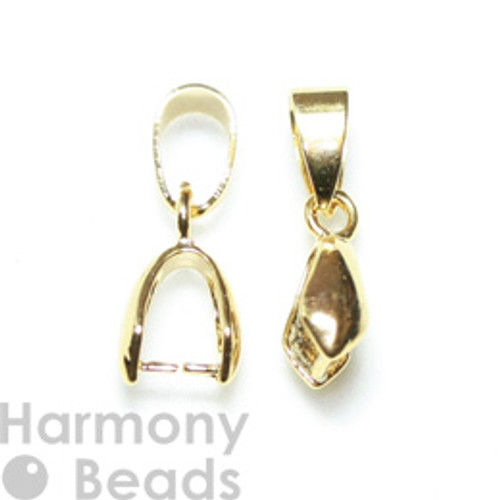 Pinch Pendant Bails 20mm Gold Colour [2 pcs]