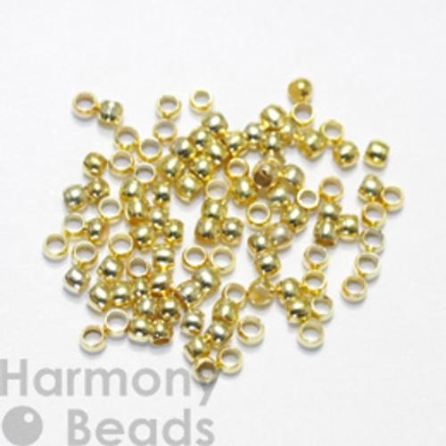 Crimp Beads, 2mm Gold Colour [50 pcs]