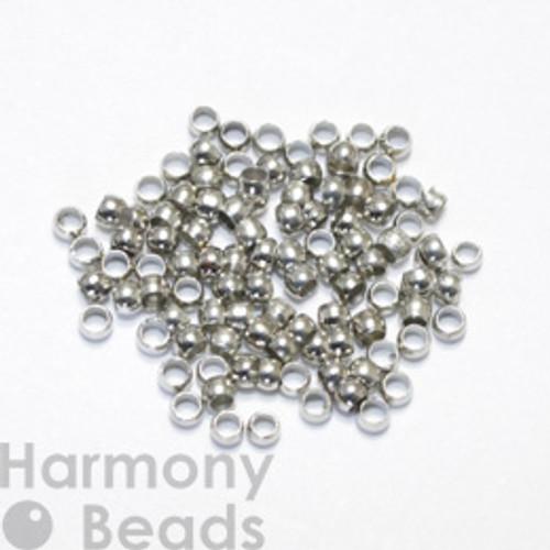 Crimp Beads, 2mm Nickel Colour [50 pcs]