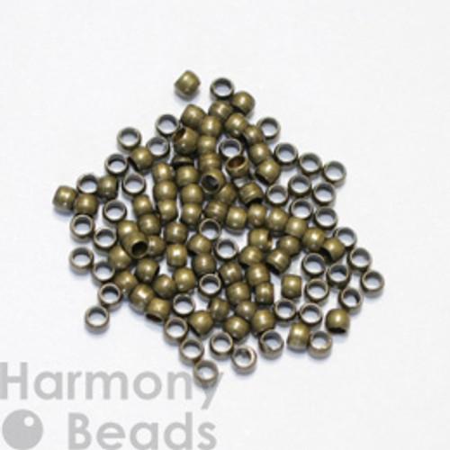 Crimp Beads, 2mm Antique Brass Colour [50 pcs]