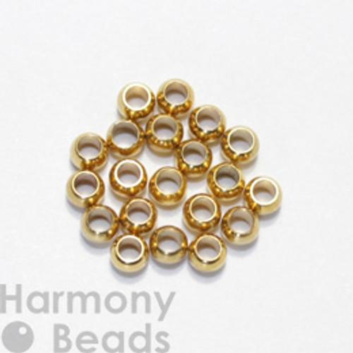 Crimp Beads, 3mm Gold Colour [25 pcs]