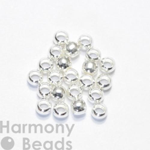 Crimp Beads, 3mm Silver Colour [25 pcs]