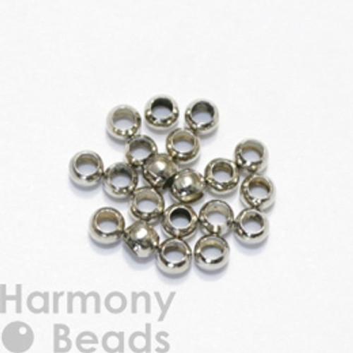 Crimp Beads, 3mm Nickel Colour [25 pcs]