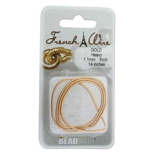 French Wire 1.1mm New Gold Colour (Thick)
