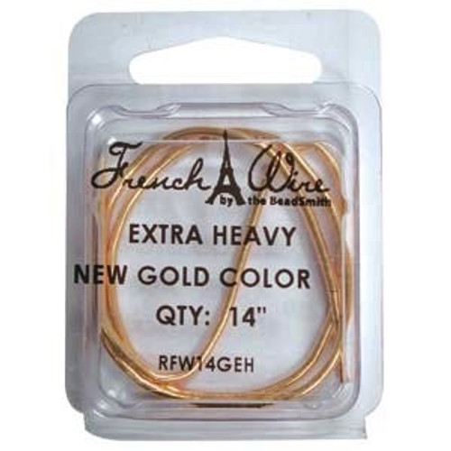 French Wire 1.8mm New Gold Colour (Extra Thick)