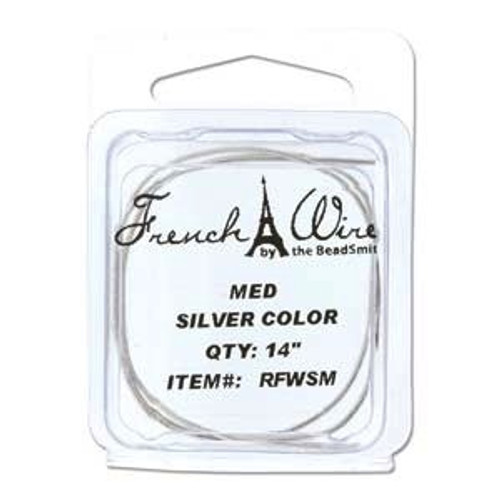 French Wire 0.9mm Silver Colour (Medium)