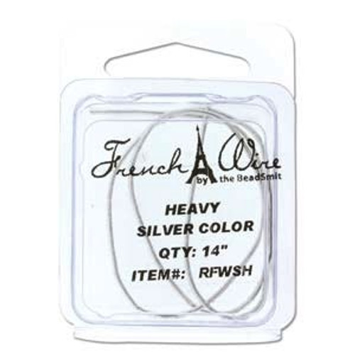 French Wire 1.1mm Silver Colour (Thick)