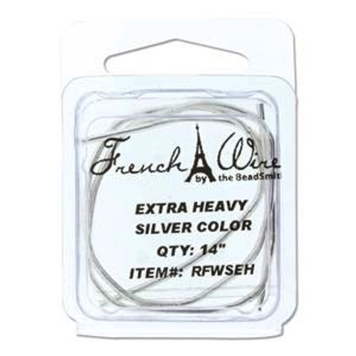 French Wire 1.8mm Silver Colour (Extra Thick)