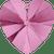 Swarovski 6202 / 6228 Heart Pendant 10mm ROSE [2 pcs]