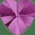Swarovski 6202 / 6228 Heart Pendant 10mm FUCHSIA [2 pcs]