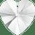 Swarovski 6202 / 6228 Heart Pendant 10mm CRYSTAL [2 pcs]