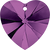 Swarovski 6202 / 6228 Heart Pendant 10mm Amethyst [2 pcs]
