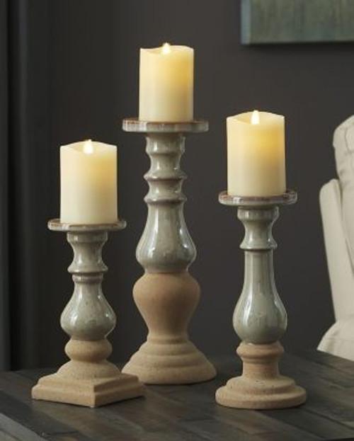Emele Taupe Candle Holder Set (3/CN) img