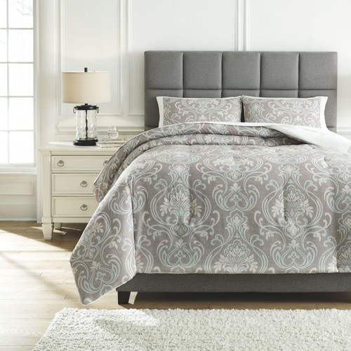 Noel Gray/Tan King Comforter Set