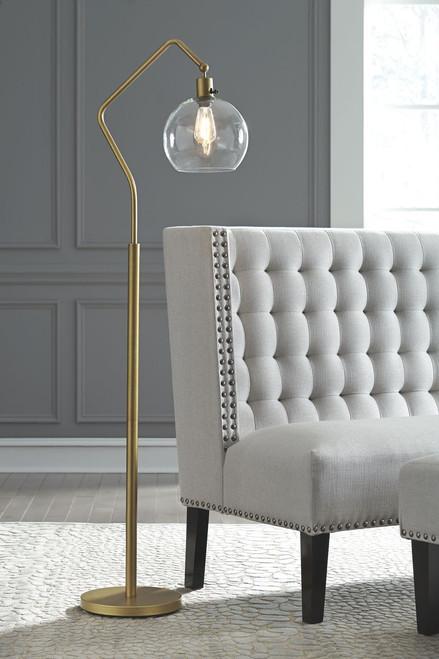 Marilee Antique Brass Finish Metal Floor Lamp (1/CN) img