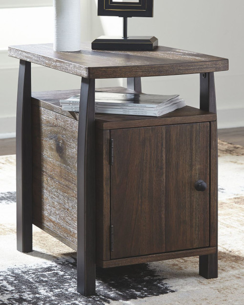 Vailbry Brown Chair Side End Table img