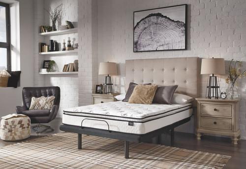 10 Inch Bonnell PT White Queen Mattress & Adjustable Base img