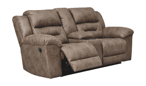 Stoneland Fossil Double Rec Loveseat w/Console img