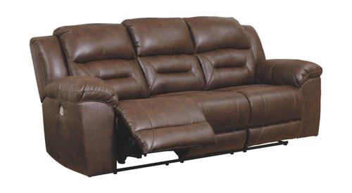 Stoneland Chocolate Reclining Power Sofa img