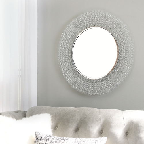 Marly Clear/Silver Finish Accent Mirror img