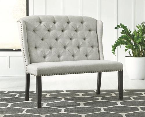 Jeanette Linen Upholstered Bench img