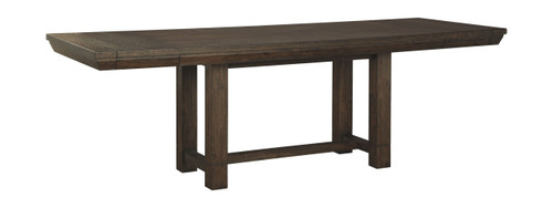 Dellbeck Brown Rectangular Dining Room Extension Table img