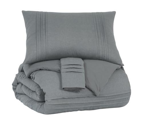 Mattias Gray King Comforter Set img