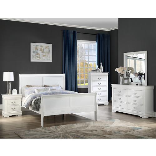 Crownmark  6 piece Louies Philippe Bedroom img