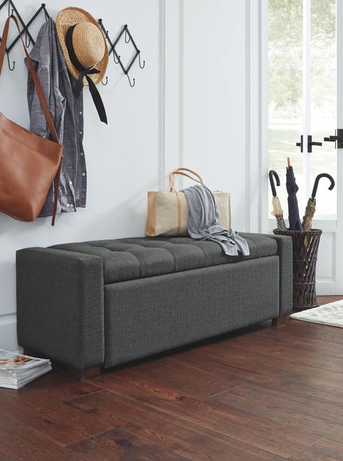 Cortwell Gray Storage Bench img